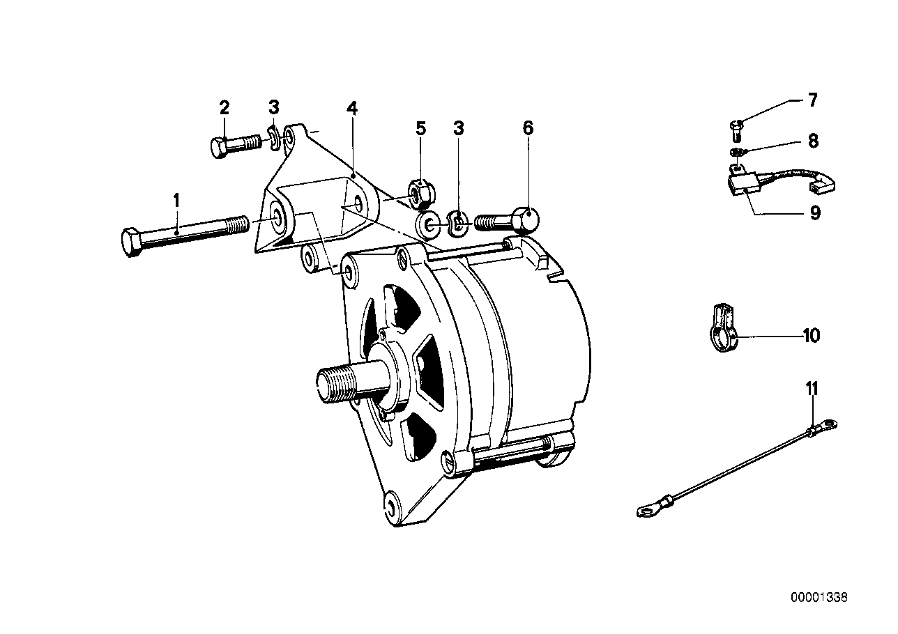 Alternatormounting parts