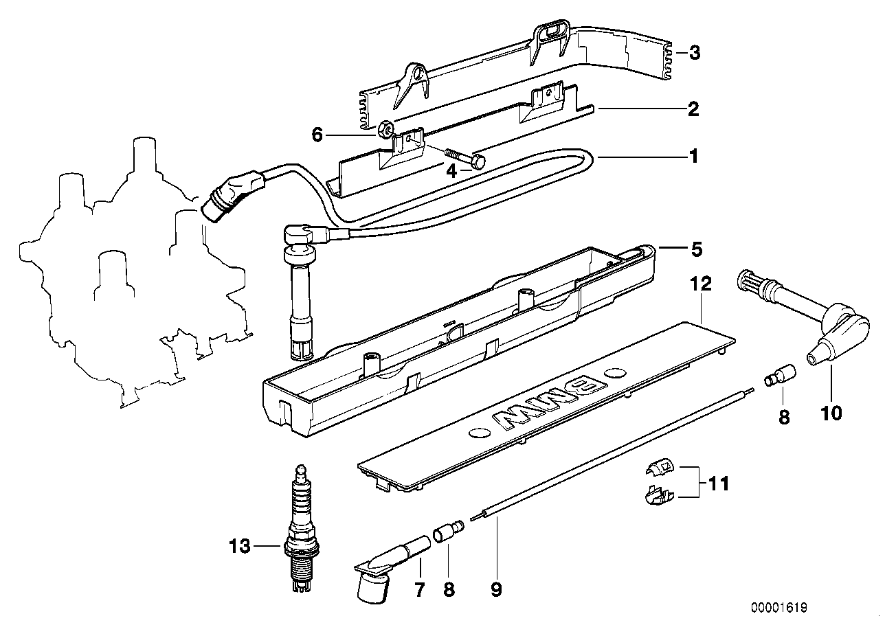 Ignition wire/spark plug