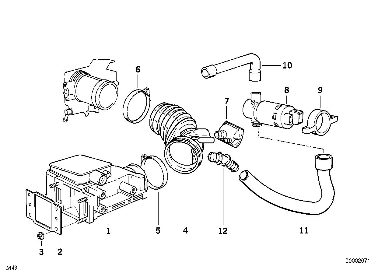 Впускной трубопровод подходит только к цилиндрам 1-6