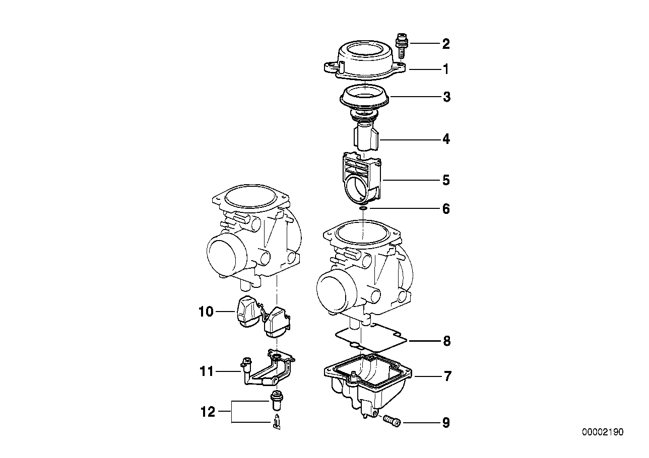 CARBURETOR CAP/PISTON/FLOAT
