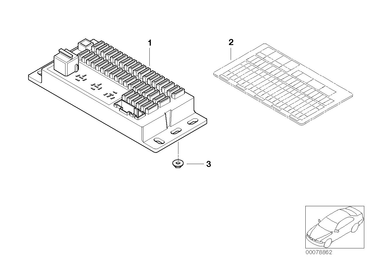 Online Bmw Parts Catalog Fuse Box Part Single Components Interiors