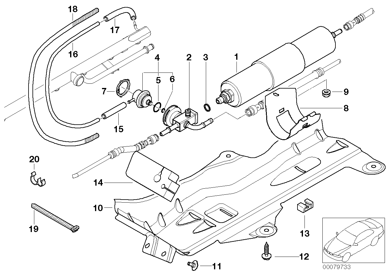 Fuel filter, pressure regulator