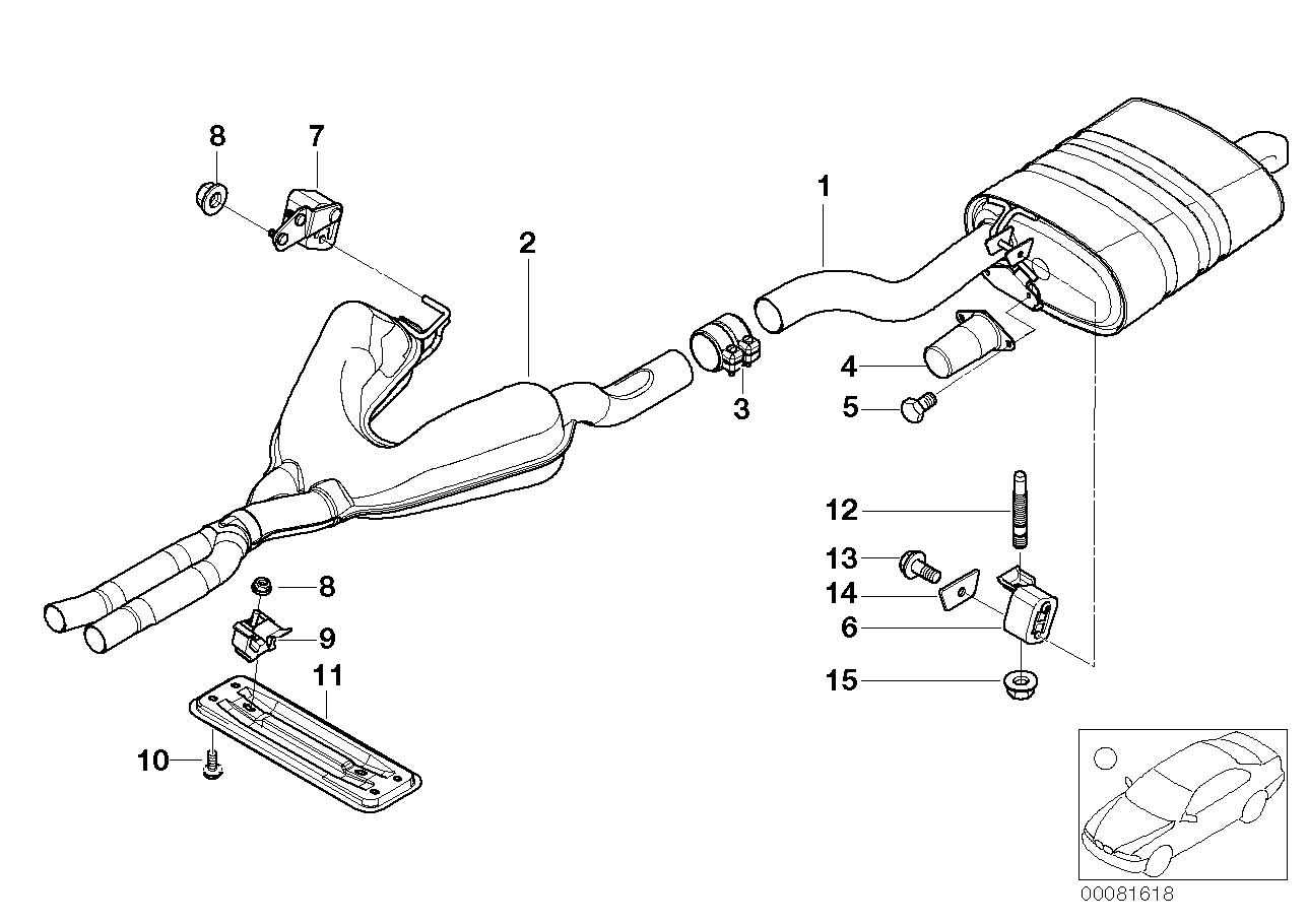 Center and rear muffler