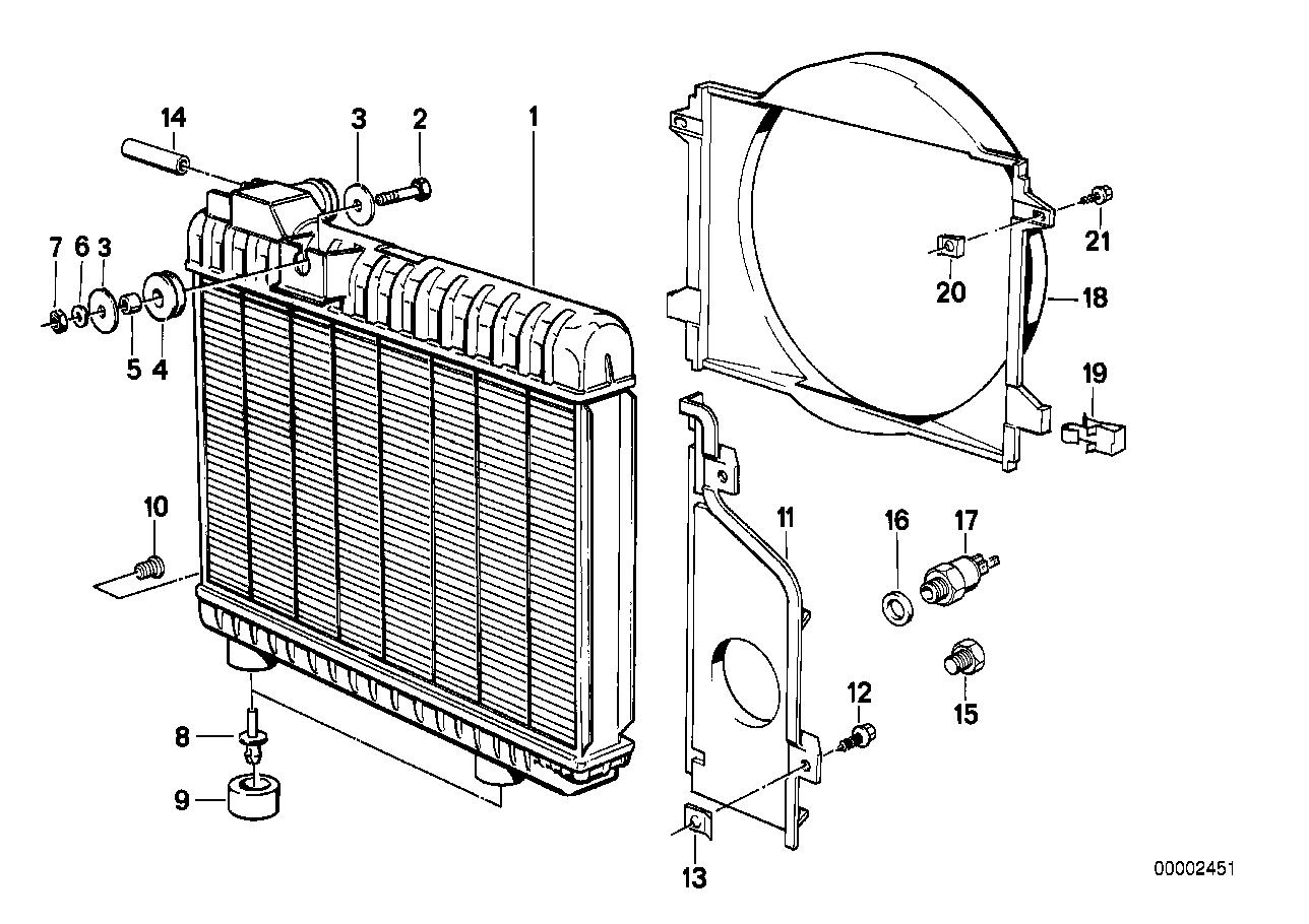 Online Bmw Parts Catalog E30 M10 Wiring Diagram Radiator