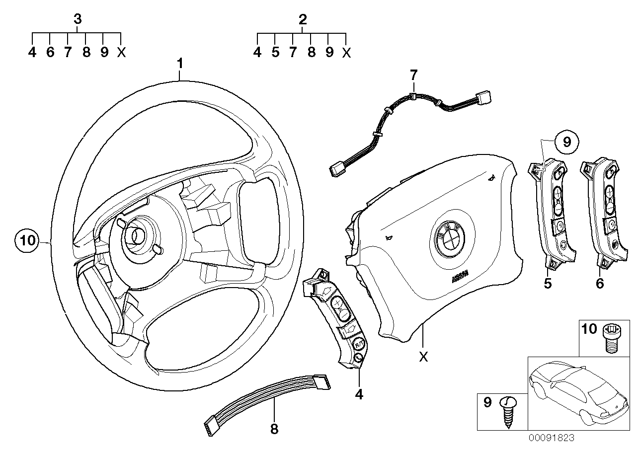 Steering wheel Airbag-Smart multifunct.