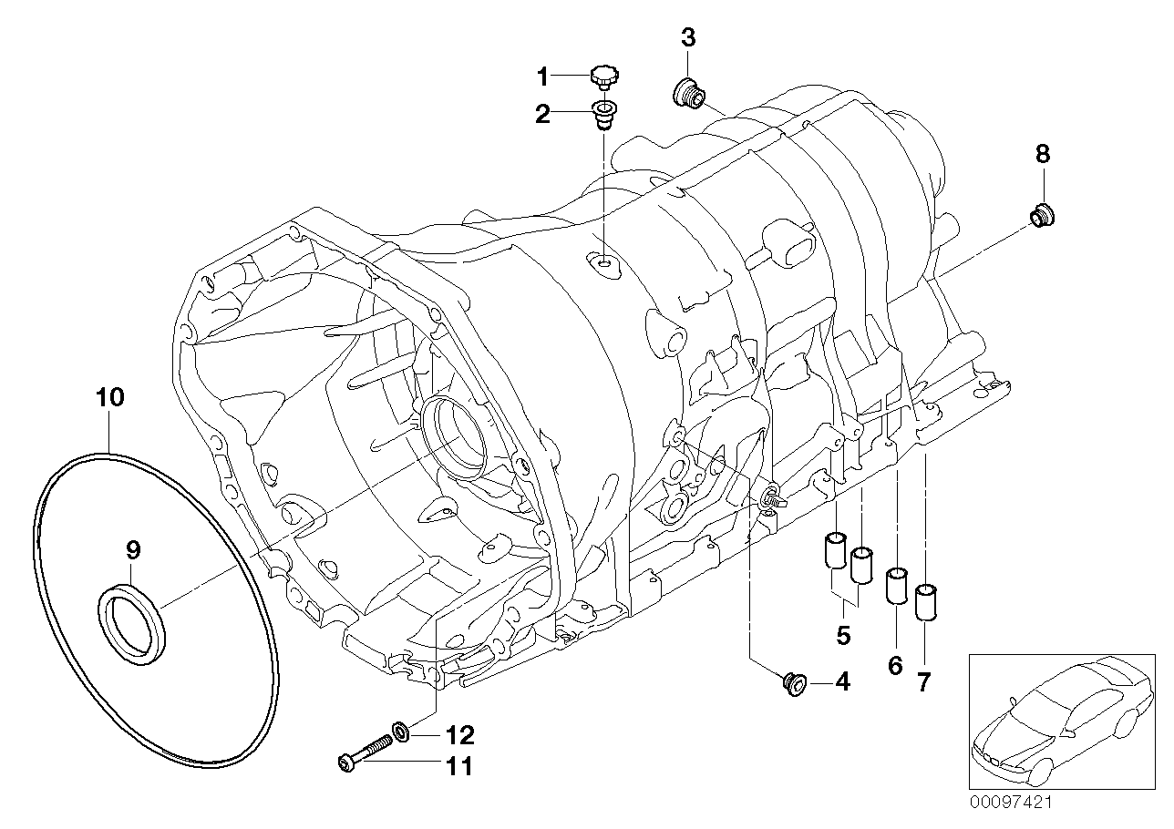 GA6HP32Z housing with mounting parts