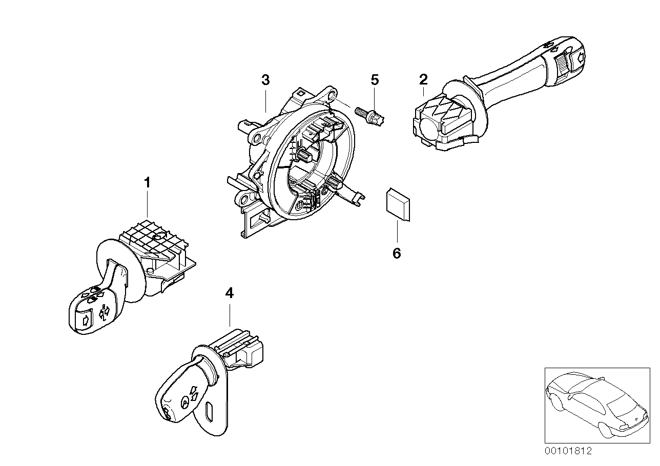 Steering column switch