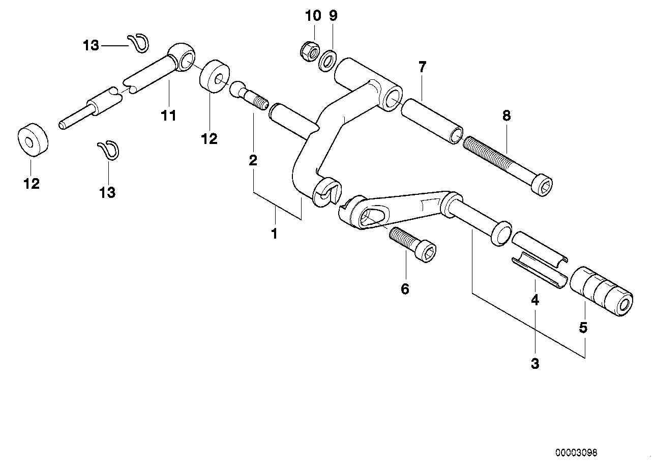 External gearshift parts/Shift lever