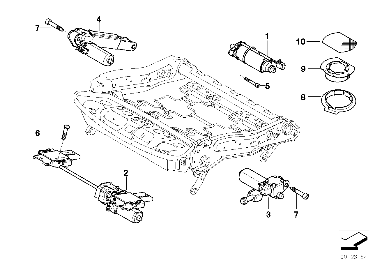 seat, front, electrical and motors