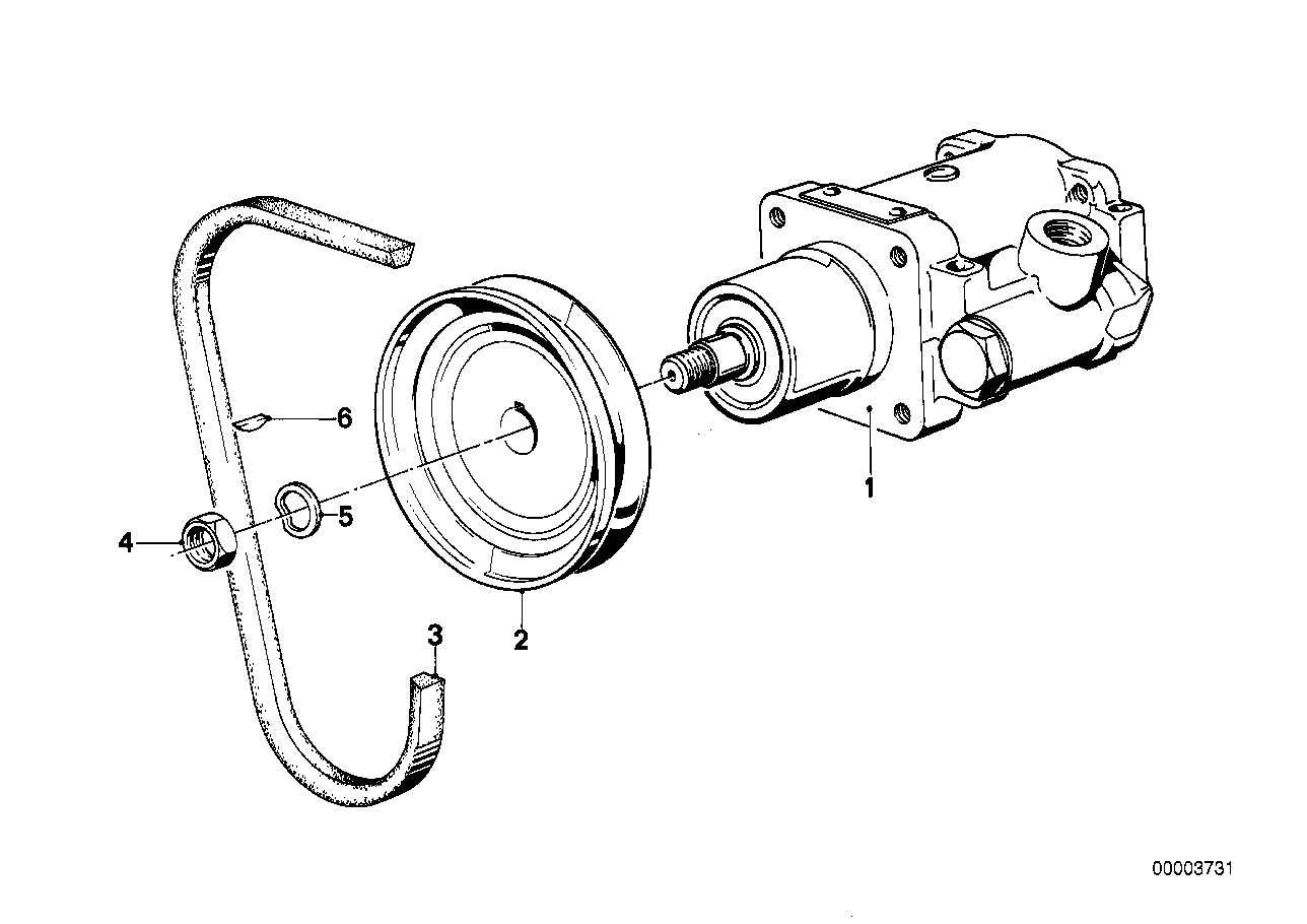 Hydro steering-vane pump/single parts