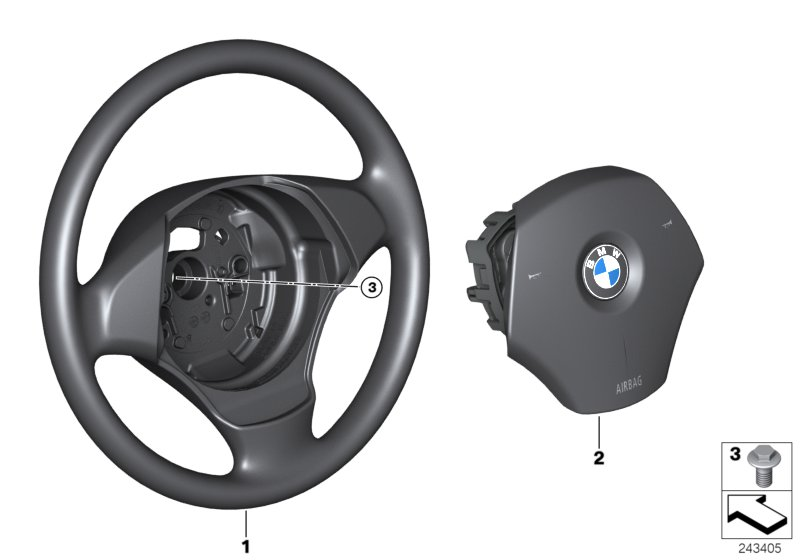 Steering wheel airbag
