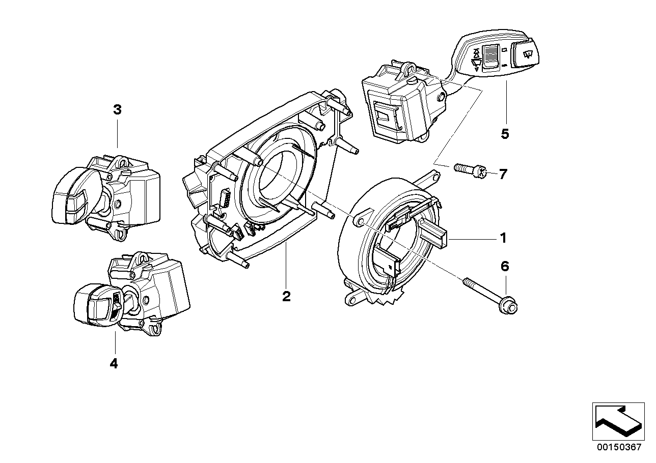 Steering column switch/control unit