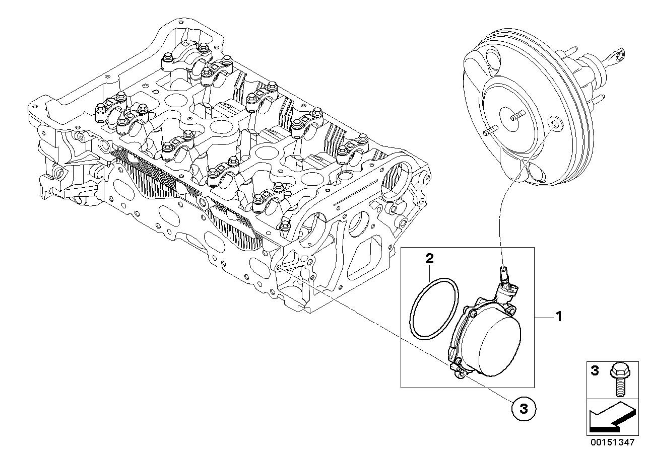Online Bmw Parts Catalog Vacuum Pump Diagram With Tubes