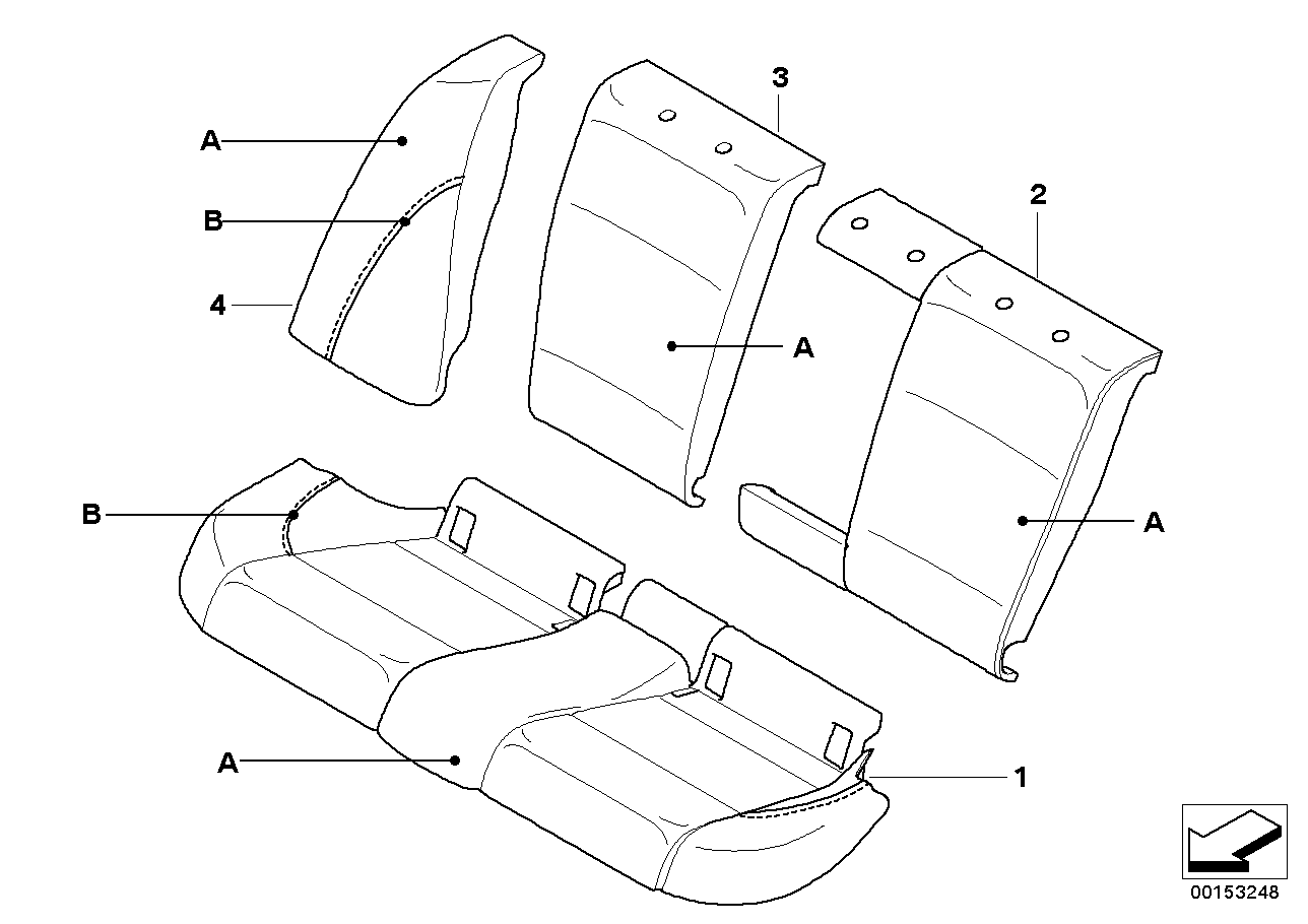 Individual Loadthrough Sport seat, rear