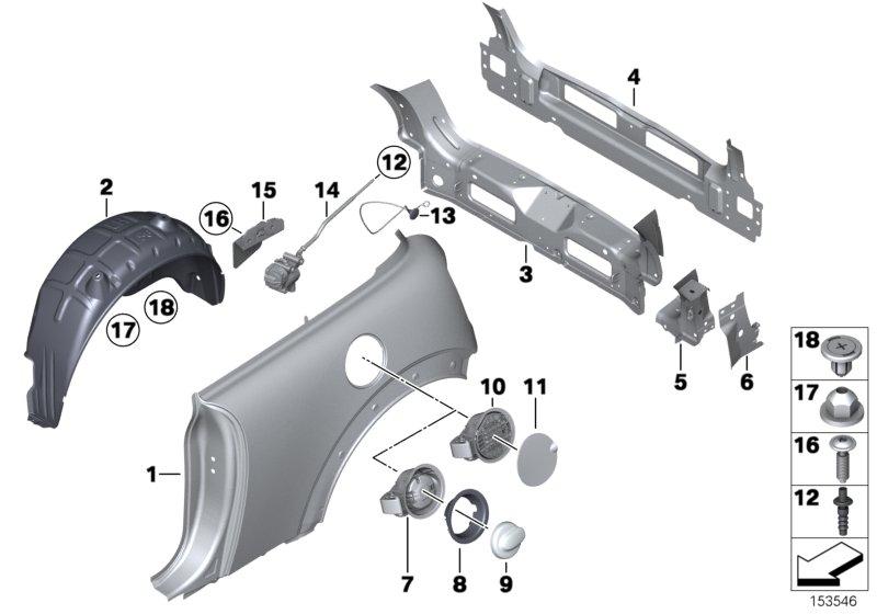 New Genuine MINI R56 Molding Side Panel Rear Right Side 2756101