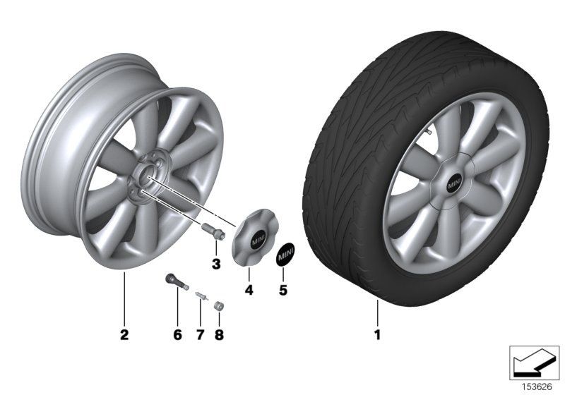 MINI LA wheel, Crown spoke 104