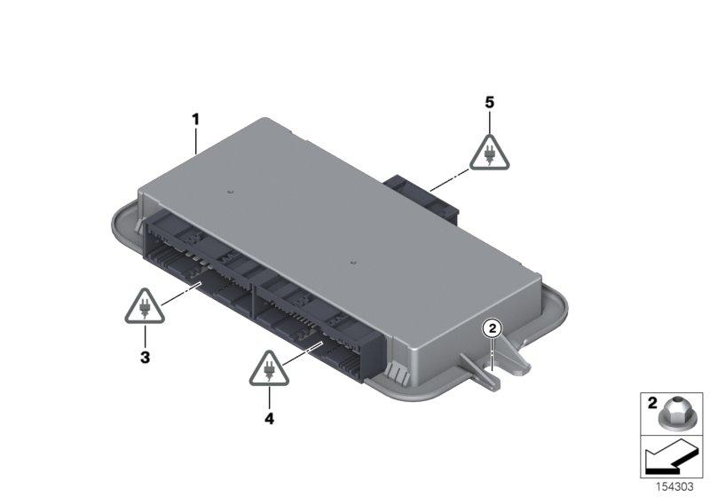 Online Bmw Parts Catalog Footwell Module Location Control Unit