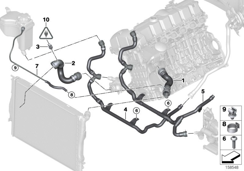 Cooling System Water Hoses: BMW E90 N52 Engine Diagram At Hrqsolutions.co