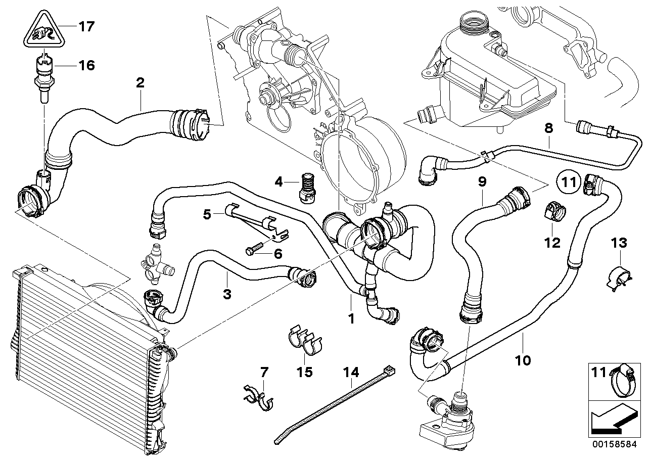 Diag Ed on Bmw E53 Coolant System Diagram