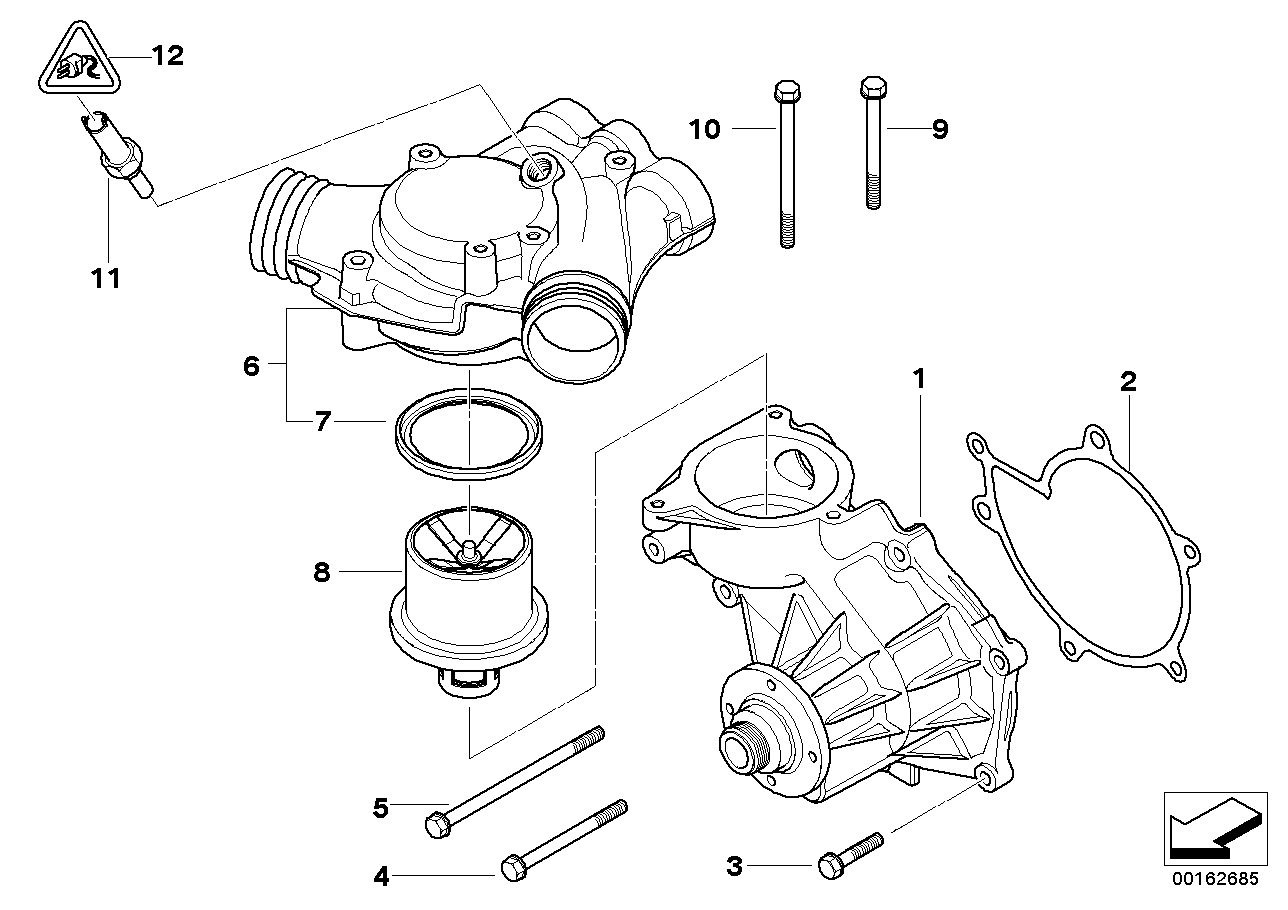 5' E39 M5 Waterpump - Thermostat