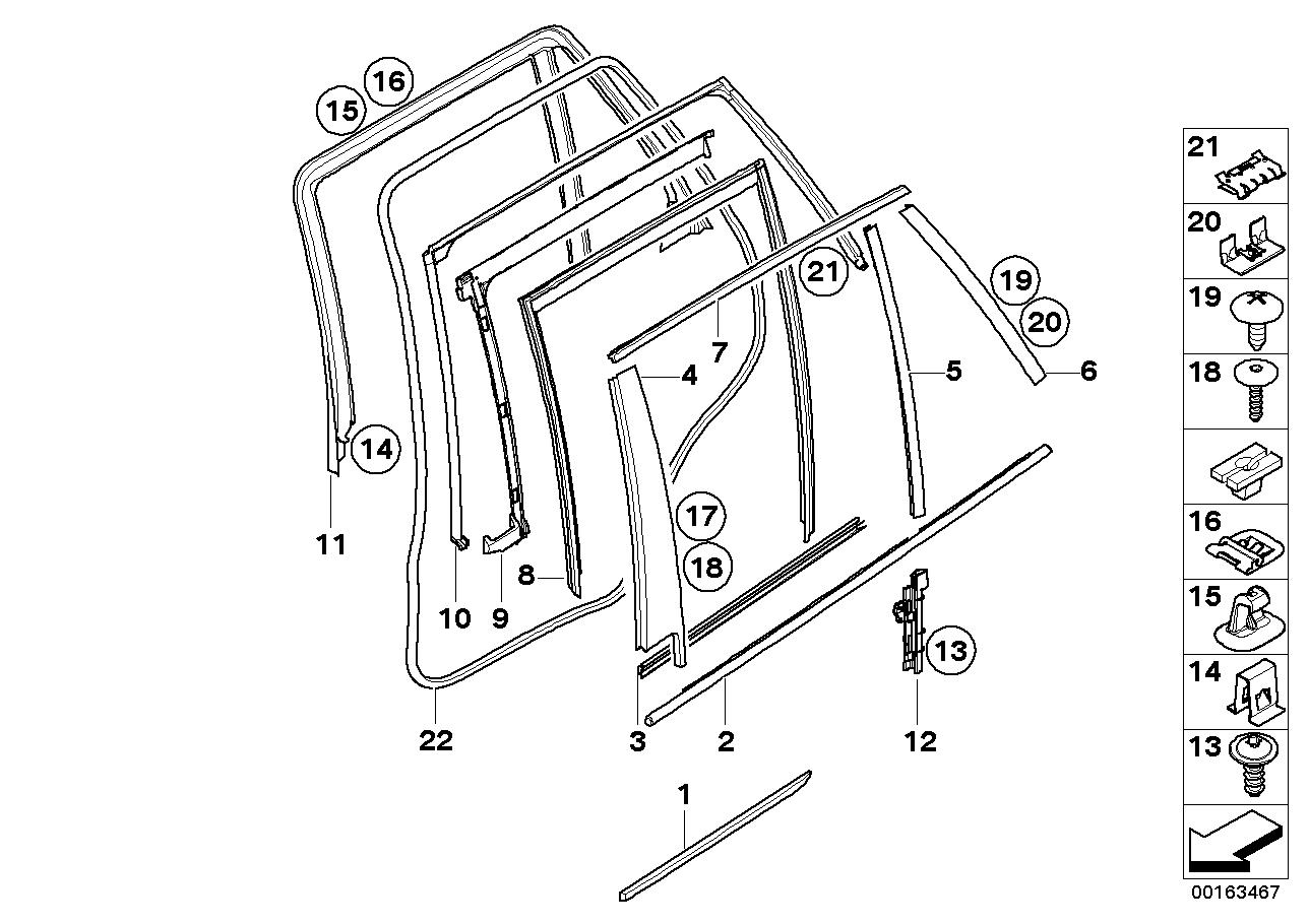 bmw x5 rear door diagram