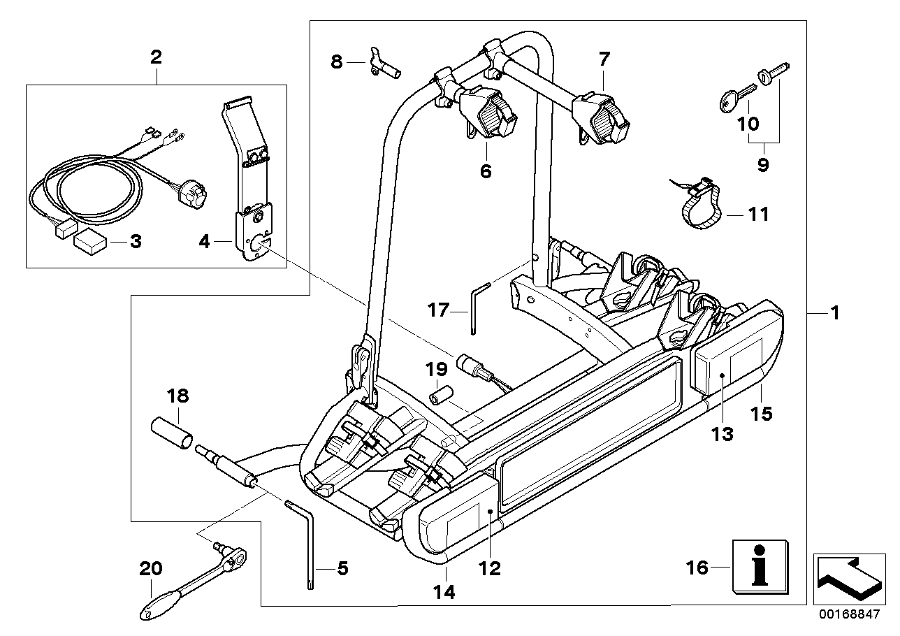 Bolt-on rear carrier ECE