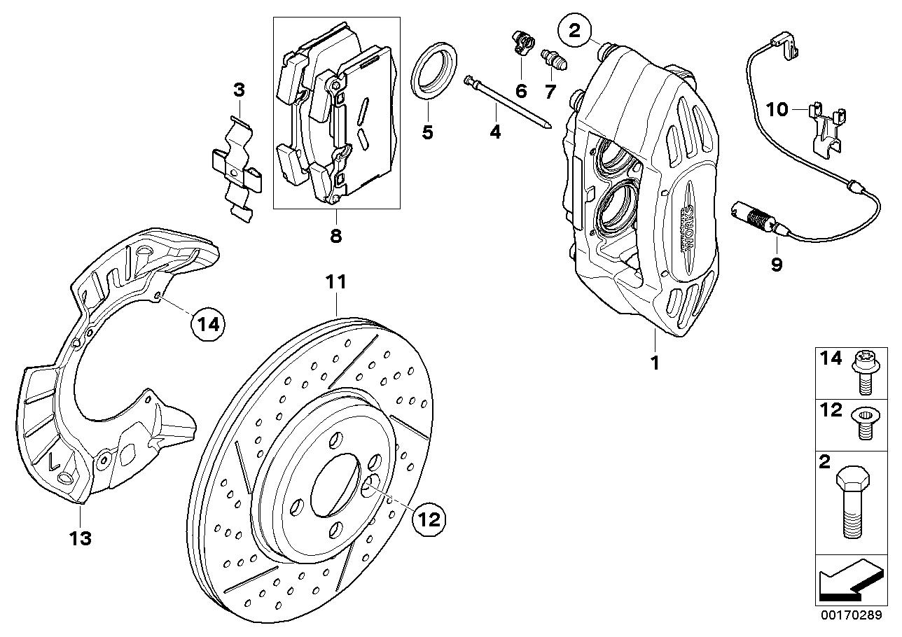 Online Bmw Parts Catalog Mini Cooper Brakes Diagram Jcw Sport Front