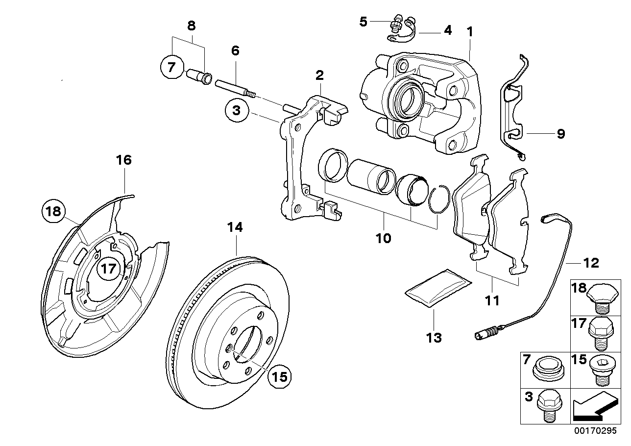 BMW Performance Rear wheel brake