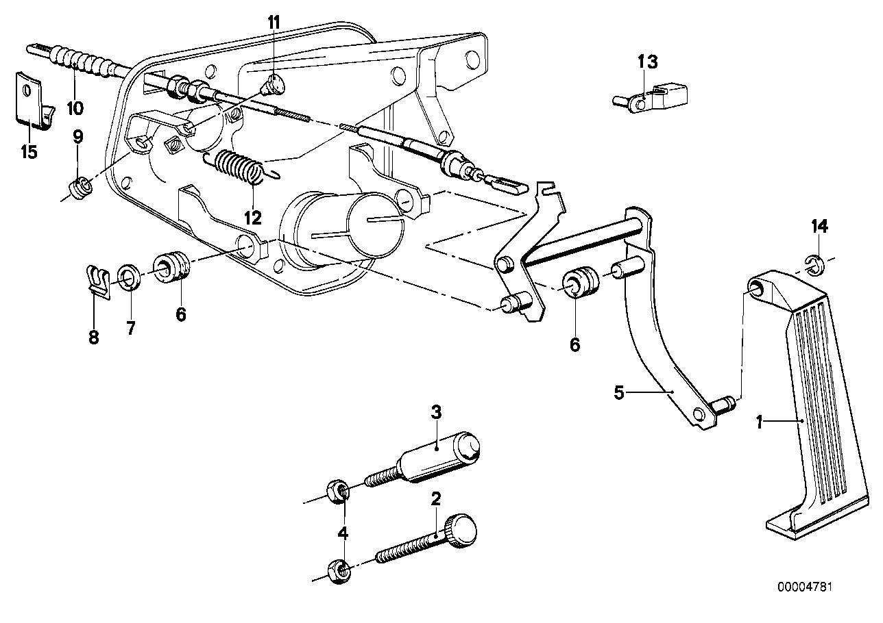 Online Bmw Parts Catalog 318 Engine Fuel Line Diagram Accelerator Pedal Bowden Cable