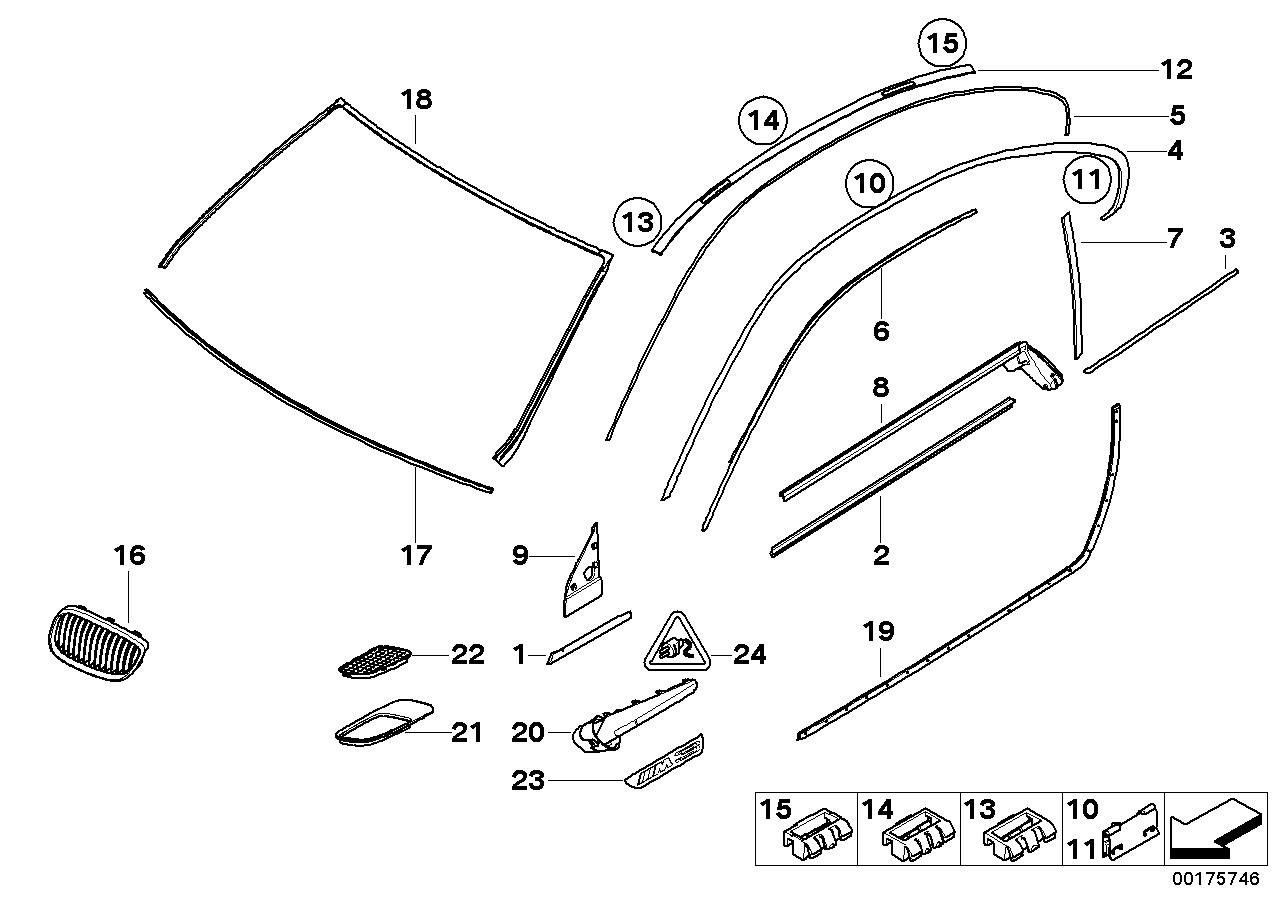 exterior trim grille seals