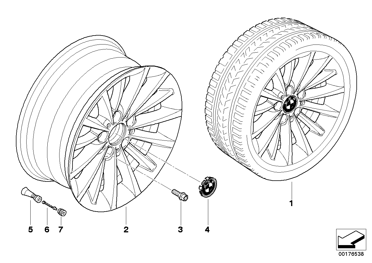 BMW LA wheel multi-spoke 284