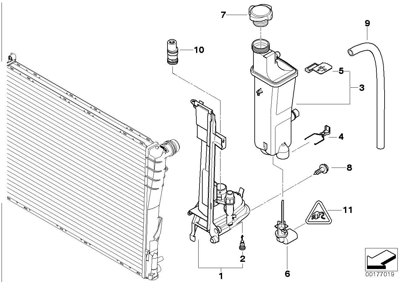 bmw e46 radiator support parts diagram  u2022 wiring diagram