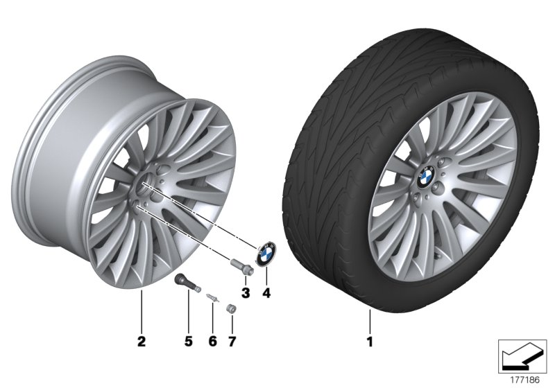 BMW LA wheel Multi-Spoke 235 - 19''