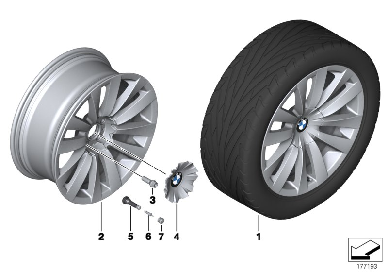 BMW LA wheel Double Spoke 253 - 20''