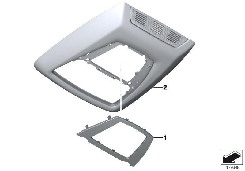 Trim cover, switch module, headliner