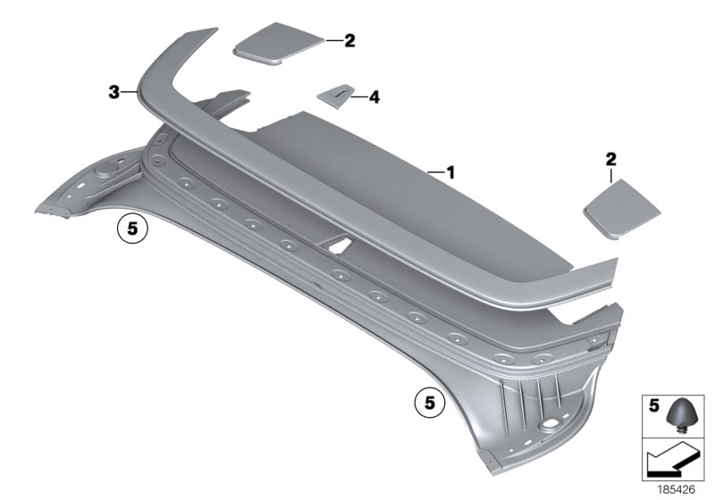 Folding top compartment lid