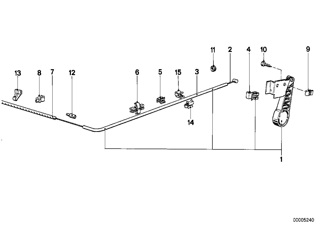 Online Bmw Parts Catalog E28 Engine Diagram Hood Mechanism