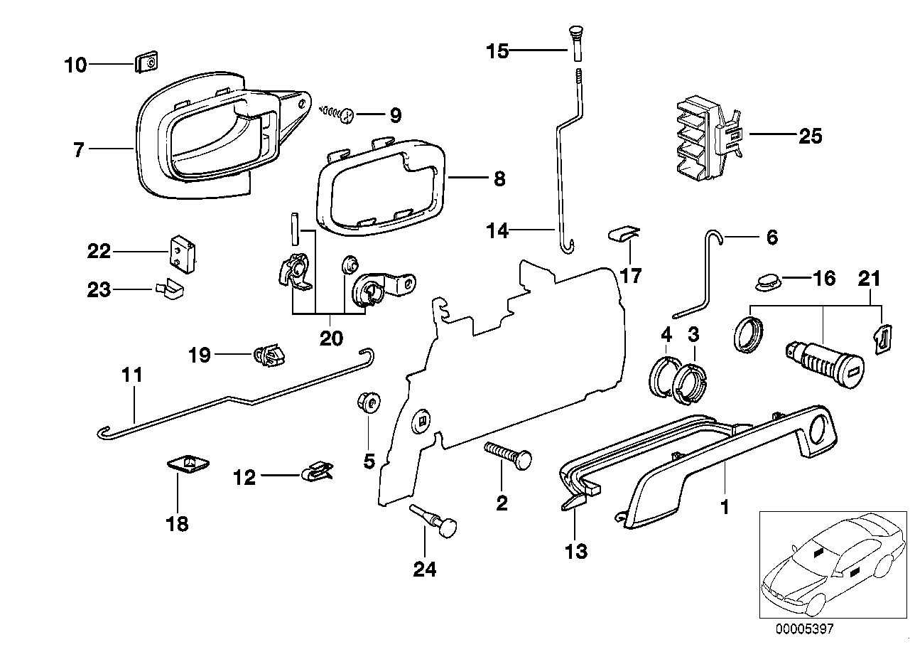 door lock parts diagram bmw