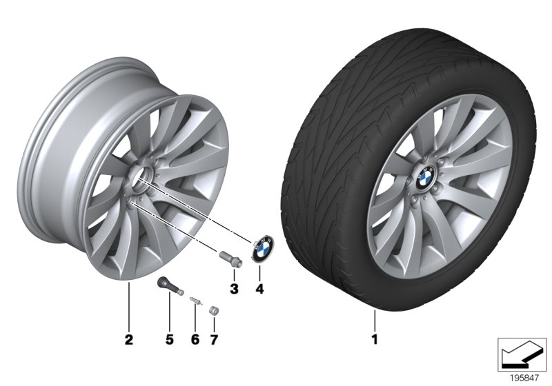 BMW LA wheel Turbine Styling 271 - 18''
