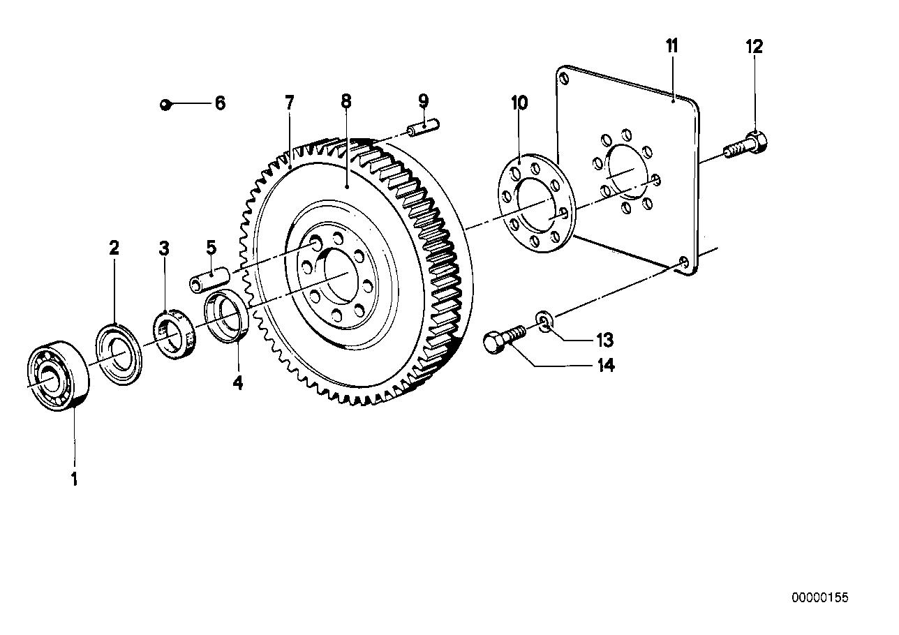 OEM bmw e30 188mm differential impulse sensor flywheel 325i 325is 325ic