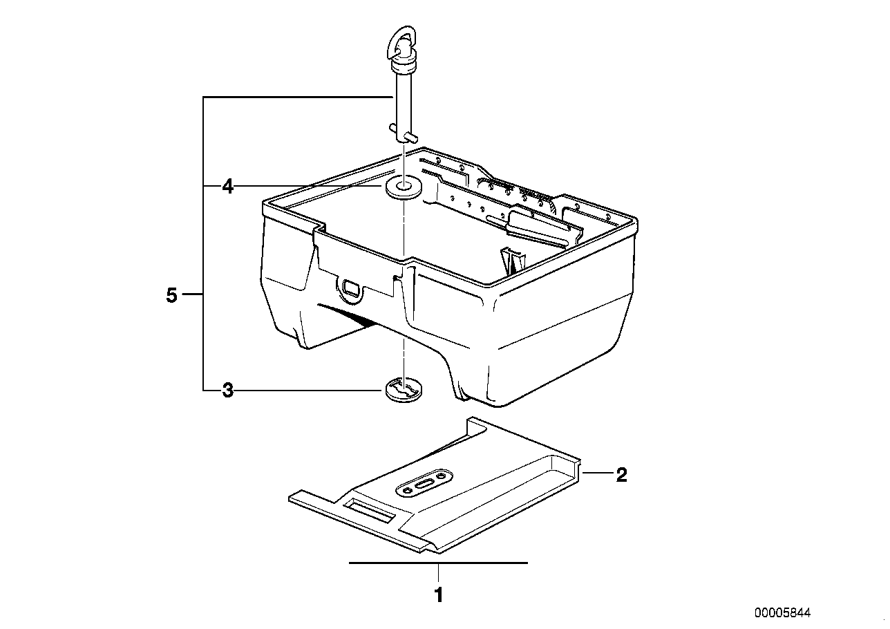 TOPCASE 22 L MOUNTING PARTS