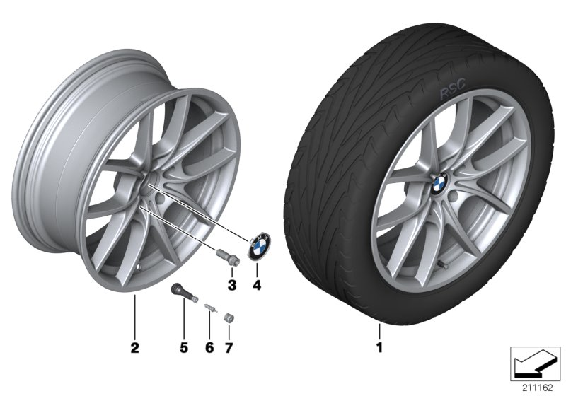 BMW LA wheel, V Spoke 356