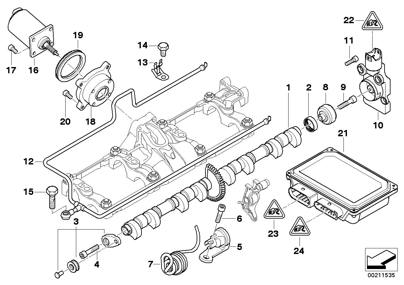 7' E65 745i Valve timing gear,eccentr.shaft,actuator