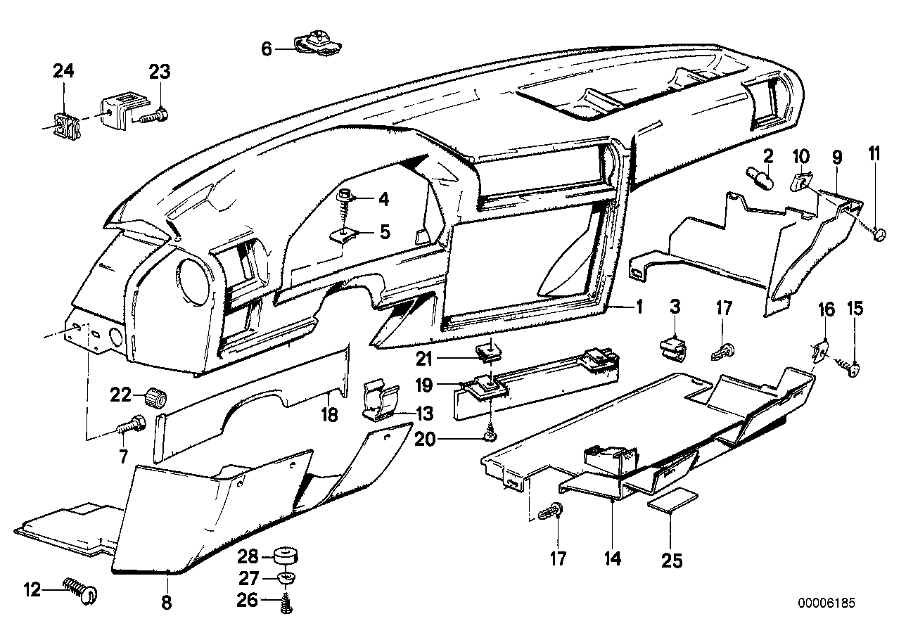 Bmw E30 Dashboard Parts Diagram Wiring Master Blogs 323ci Engine Realoem Com Online Catalog Rh 323i
