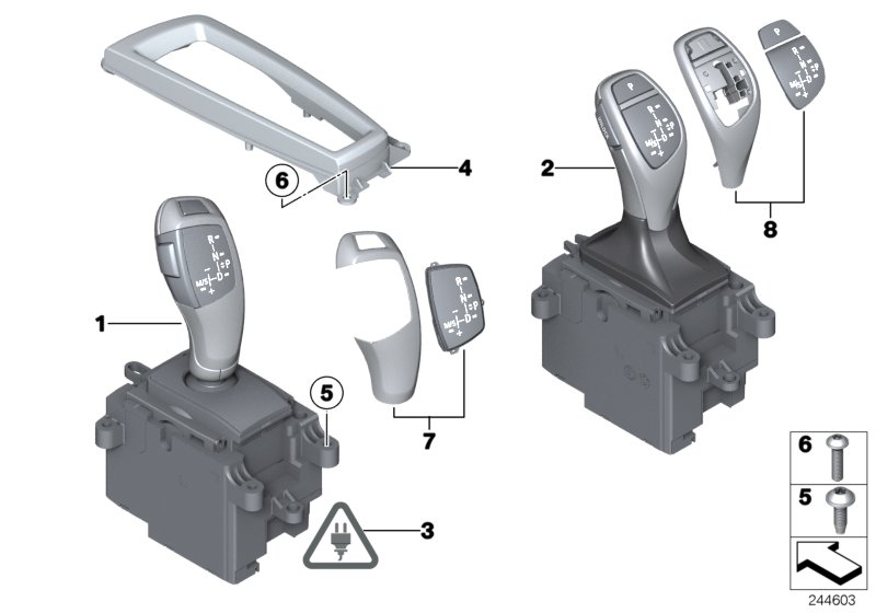 Gear selector switch