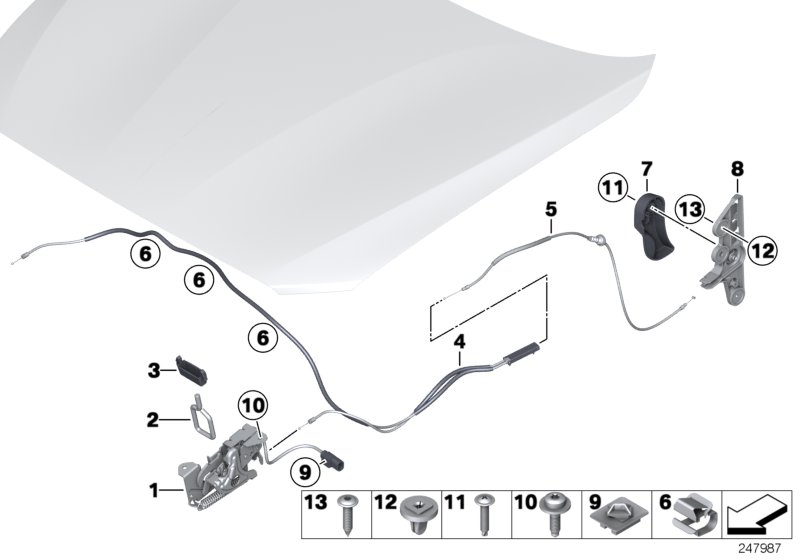 Front hatch / locking system