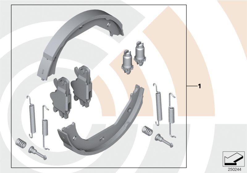 Service Kit for brake shoes / Value Line