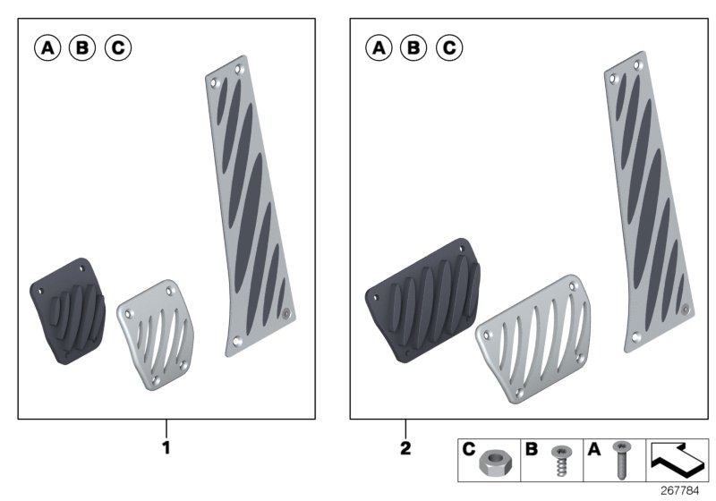BMW Performance Alu pedal plates
