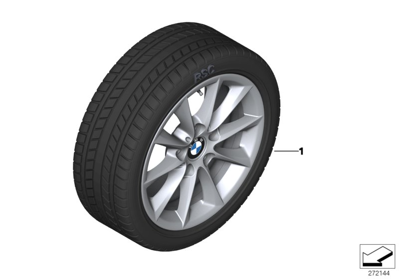 Winter wheel & tire set V-Spoke 411