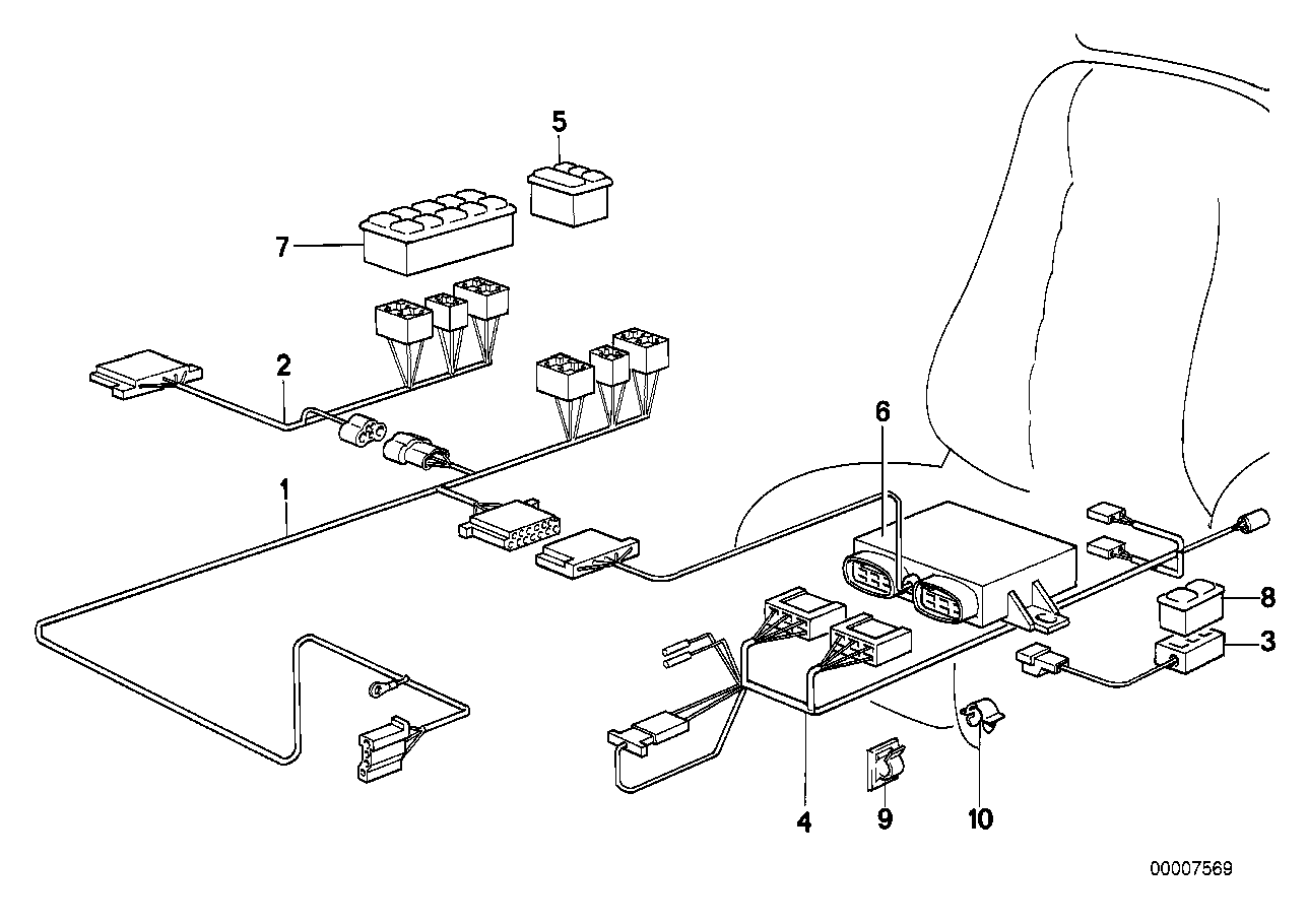 Online Bmw Parts Catalog 1986 635csi Fuse Diagram Wiring Set Adjustable Sportseat